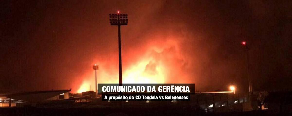 Um Tondela-Belenenses incendiado