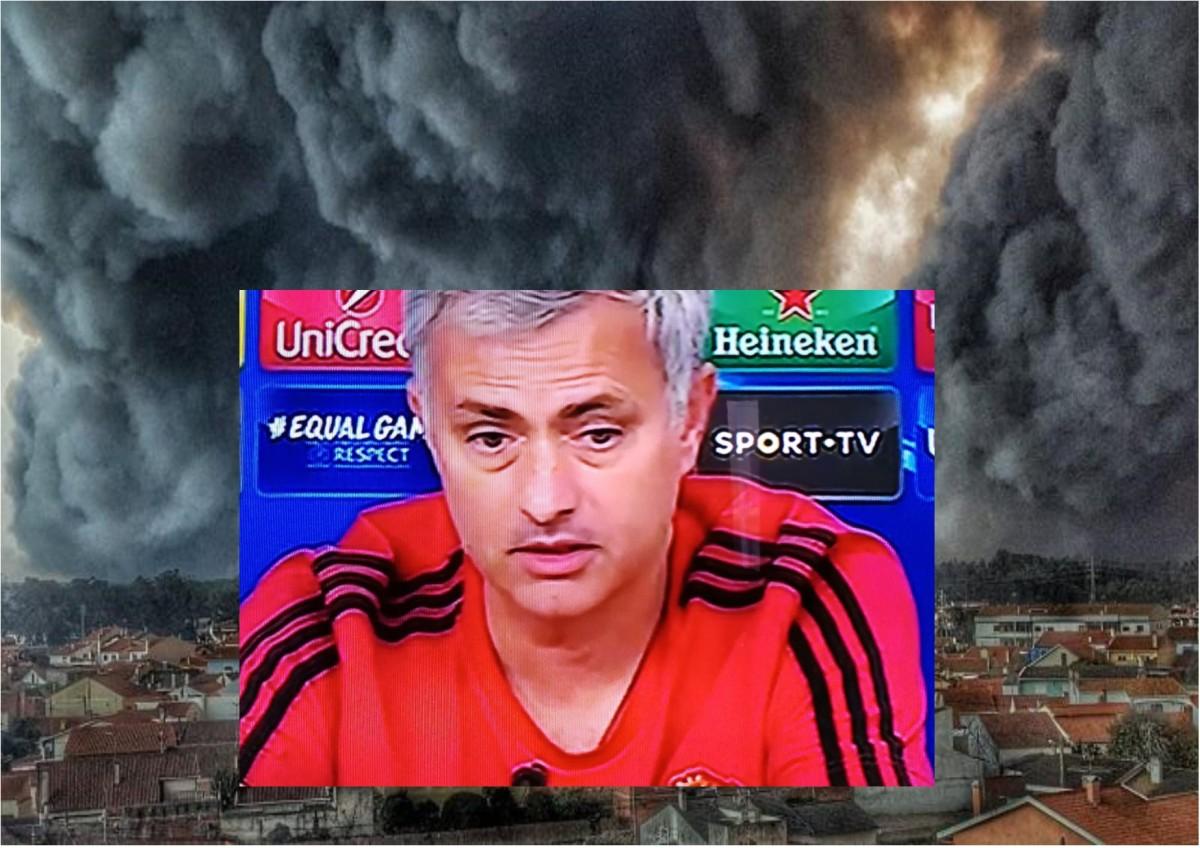 Mourinho emociona-se com tragédia de Portugal